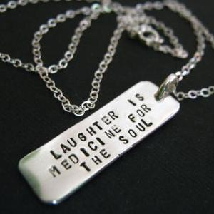 quote necklace inspirational quote dog tag necklace