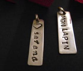 ADD A TAG to Any Necklace, Personalized Necklace, Create Your Own, Design Your Own Necklace, Custom Jewelry, Personalized Jewelry