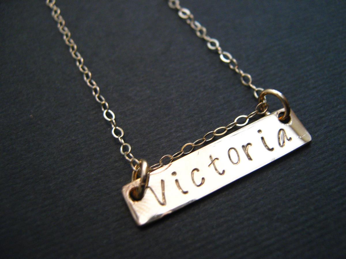 gold bar necklace bar necklace gold name necklace